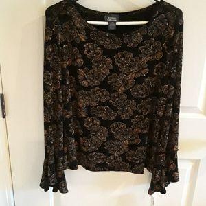 Fancy long sleeve pullover top